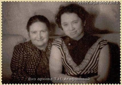 М.Л. Коноплина с дочерью Нинель. 1955 г. Фото Т.И. Чернышевой