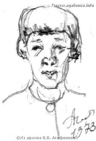 Портрет Е.П. Бахметьевой. 1973 г.