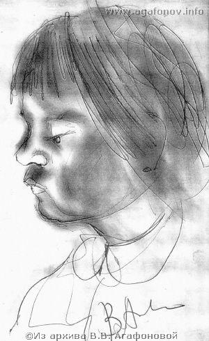 Лада Агафонова. 1975 г.